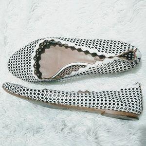 White Chloé Leather Lauren Ballet 39 1/2